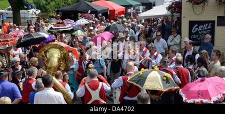 JAZZ-FESTIVAL, UPTON AUF SEVERN, WORCESTERSHIRE, ENGLAND.  UK - Stockfoto