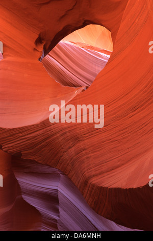 Linien und Strukturen im Lower Antelope Canyon, Page, Arizona - Stockfoto