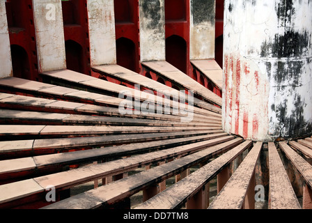 Astronomisches Observatorium Jantar Mantar in Delhi - Stockfoto