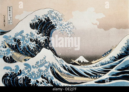 """""""Die große Welle vor der Küste von Kanagawa"""", c1829-c1831. Künstler: Hokusai - Stockfoto"""