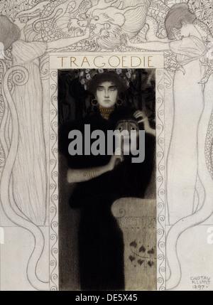 Tragödie, 1897. Künstler: Klimt, Gustav (1862-1918) - Stockfoto