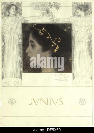 Junius, 1896. Künstler: Klimt, Gustav (1862-1918) - Stockfoto