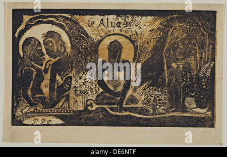 Te Atua (die Götter) aus der Serie Noa Noa, 1893-1894. Künstler: Gauguin, Paul Eugéne Henri (1848-1903) - Stockfoto