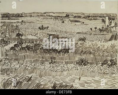Die Ernte in der Provence (für Émile Bernard), 1888. Künstler: Van Gogh, Vincent, (1853-1890) - Stockfoto