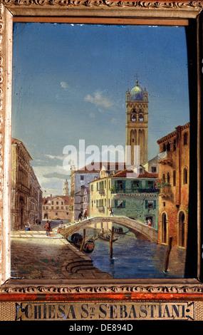 """""""Die Kirche von San Sebastiano"""", 19. Jahrhundert.  Künstler: Victor Adam - Stockfoto"""