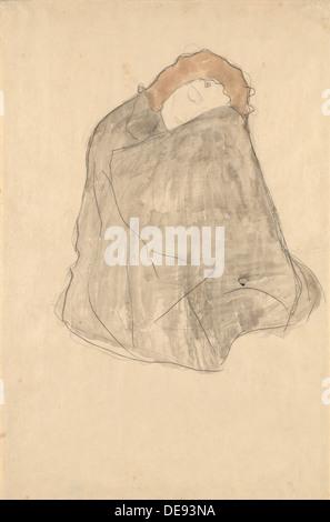 Frau sitzend, 1908-1909. Künstler: Klimt, Gustav (1862-1918) - Stockfoto