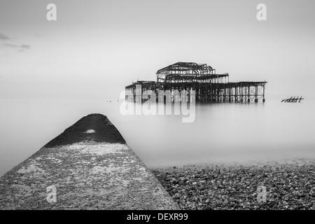 Pier West, Brighton, Sussex, England, Vereinigtes Königreich, Europa - Stockfoto