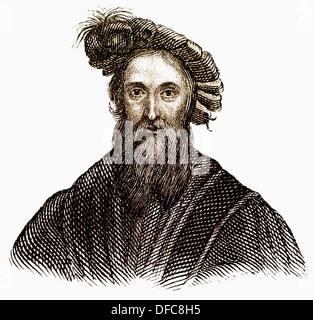 Christopher Columbus, 1451-1506, italienischer Nautiker in den Dienst der Re-Entdeckung Amerikas 1492 Spanien, - Stockfoto