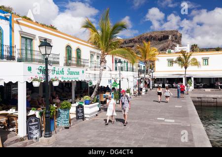Altstadt, Puerto de Mogan, Gran Canaria, Kanarische Inseln, Spanien, Europa - Stockfoto
