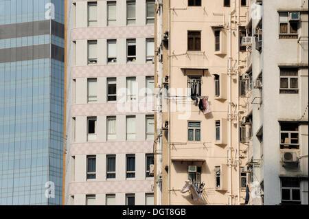 Wolkenkratzer in Chung Wan, Central District, Hong Kong Island, Hongkong, China, Asien - Stockfoto