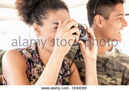 Frau nehmen Foto - Stockfoto