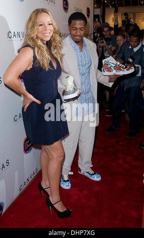 Mariah Carey und Ehemann Nick Cannon Projekt Leinwand Kunst Gala - Ankunft New York City, USA, 11.05.12 - Stockfoto