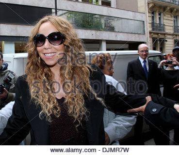 Mariah Carey und Ehemann Nick Cannon-Promi-paar feiern ihren vierten Jahrestag der Ehe Paris Frankreich - 27.04.12 - Stockfoto