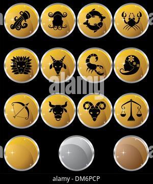 Tierkreis-Symbolen - Stockfoto