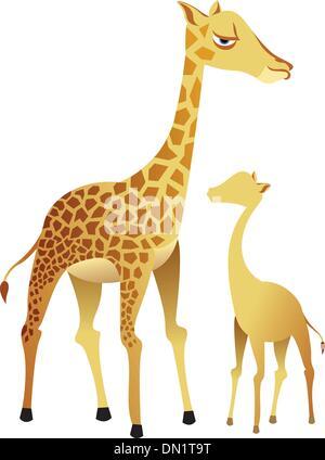 Giraffen-Familie - Stockfoto