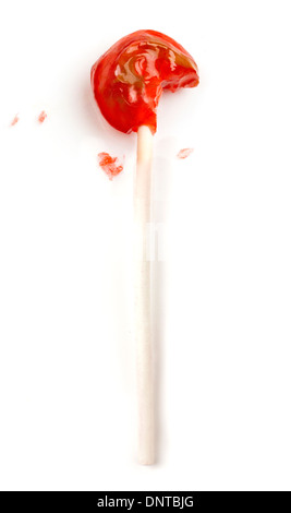 gegessen Tootsie roll pop - Stockfoto