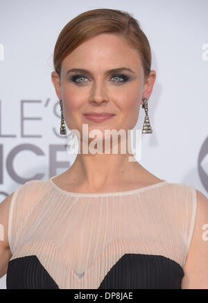 Los Angeles, CA, USA. 8. Januar 2014. Emily Dachanel kommt an den Peoples Choice Awards in Los Angeles, CA 8. Januar - Stockfoto