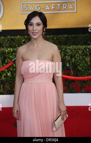 Los Angeles, USA. 18. Januar 2014. Schauspielerin Sibel Kekilli besucht die 20. jährlichen Screen Actor Guild Awards - Stockfoto