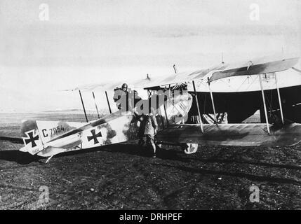 Deutsche Doppeldecker auf Front Palästina, Türkei, WW1 - Stockfoto