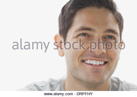Close-up Portrait von zuversichtlich Mann - Stockfoto