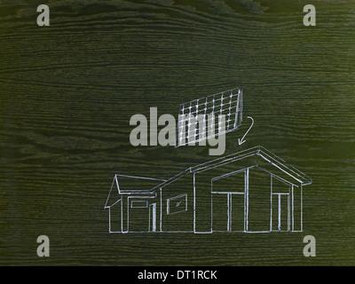 sonnenkollektoren auf dem dach des hauses stockfoto bild 52619276 alamy. Black Bedroom Furniture Sets. Home Design Ideas
