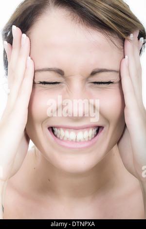 Attraktive böse junge Frau - Stockfoto