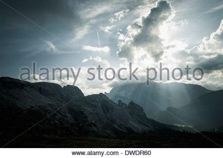 Italien, Provinz Belluno, Region Venetien, Auronzo di Cadore, Tre Cime di Lavaredo, Wolkenformationen - Stockfoto