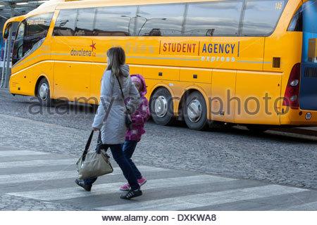 Busbahnhof Florenc, Prag - Stockfoto