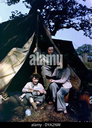 WW II historische Krieg Weltkrieg Krieg Betrieb Overlord Overlord Invasion drei JD Korps Armee WAC sitzen, - Stockfoto