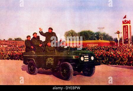 Mao Ze Dung (1893-1976) Chines kommunistischer Führer Bewertungen Militärkadetten ca. 1965 - Stockfoto