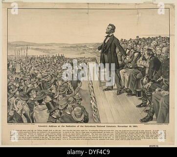 Präsident Abraham Lincoln die Gettysburg Adresse zu liefern. - Stockfoto