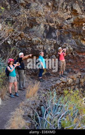 Los toscas. Santiago Schlucht laufen. La Gomera, Provinz Santa Cruz de Tenerife Kanarische Inseln, Spanien. - Stockfoto