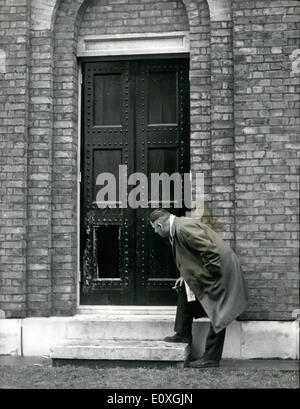 12. Dezember 1966 - 1.500.000 Art Raub am Dulwich Galerie The Worlds Biggest je Bild schleppen: der weltweit größte - Stockfoto