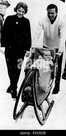 Prinzessin Beatrix und Familie Urlaub in Österreich - Stockfoto
