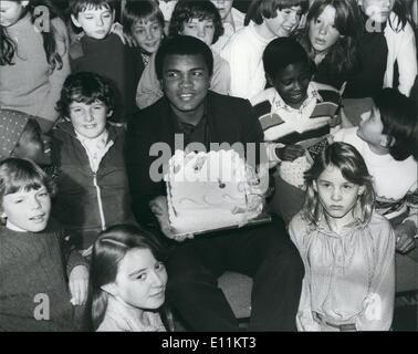 1. Januar 1979 - Muhammad Ali besucht Screening von '' Bangladish I Love You'', er der Star ist: Muhammad Ali, der - Stockfoto