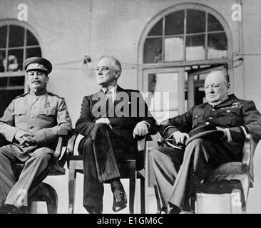 Roosevelt, Stalin und Churchill - Stockfoto