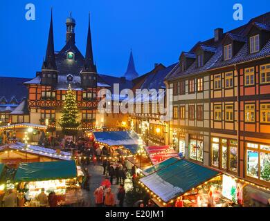weihnachtsmarkt in wernigerode stockfoto bild 70085455. Black Bedroom Furniture Sets. Home Design Ideas