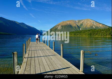 Neuseeland, Südinsel, Nelson Lakes National Park, Lake Rotoiti - Stockfoto