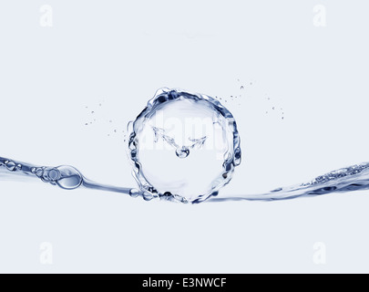 Blaue Wasser-Uhr - Stockfoto