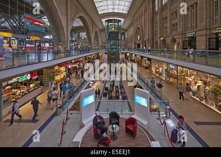 Promenaden in Leipzig Station, Mitteldeutschland - Stockfoto