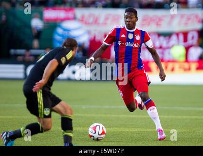 UNS. 6. August 2014.  DAVID ALABA (27) steuert den Ball. Die MLS All-Stars spielen FC Bayern München in die MLS - Stockfoto