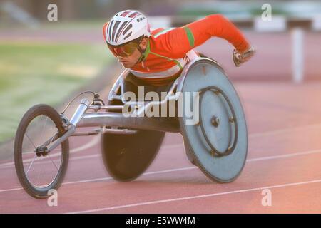 Sportler im Para-sportlichen Wettkampf - Stockfoto