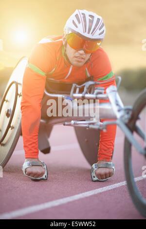 Sportler in Para-Athletiktraining - Stockfoto