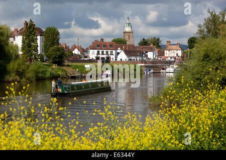 Die Pepperpot und Stadt an den Fluss Severn, Upton auf Severn, Worcestershire, England, Vereinigtes Königreich, - Stockfoto