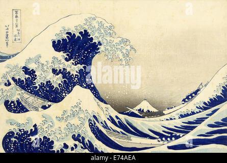 Die große Welle vor Kanagawa - von Katsushika Hokusai, 1829-1833 - Stockfoto