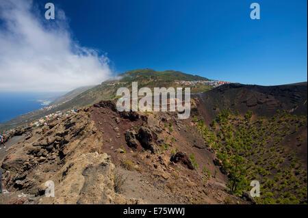 San Antonio-Vulkan im Monumento Natural de Los Volcanes de Teneguía Park, La Palma, Kanarische Inseln, Spanien - Stockfoto