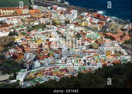 Stadt Garachico, Teneriffa, Kanarische Inseln, Spanien - Stockfoto