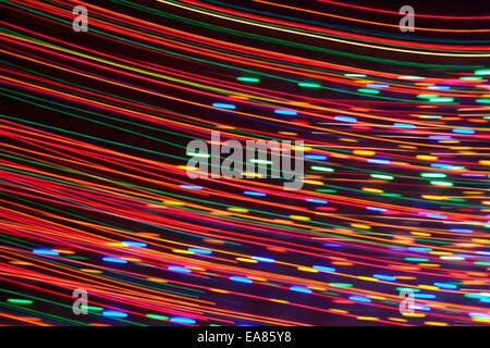 Streifen von bunten Lichtern von Christmas Holiday Lights. - Stockfoto