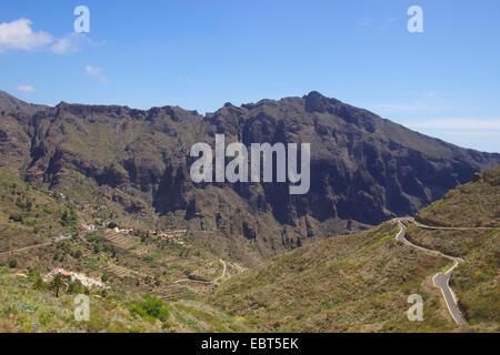 Bergdorf Masca im Teno Gebirge, Kanarische Inseln, Teneriffa - Stockfoto