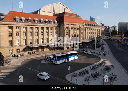 Bahnhof Leipzig, Deutschland; Hauptbahnhof Leipzig - Stockfoto